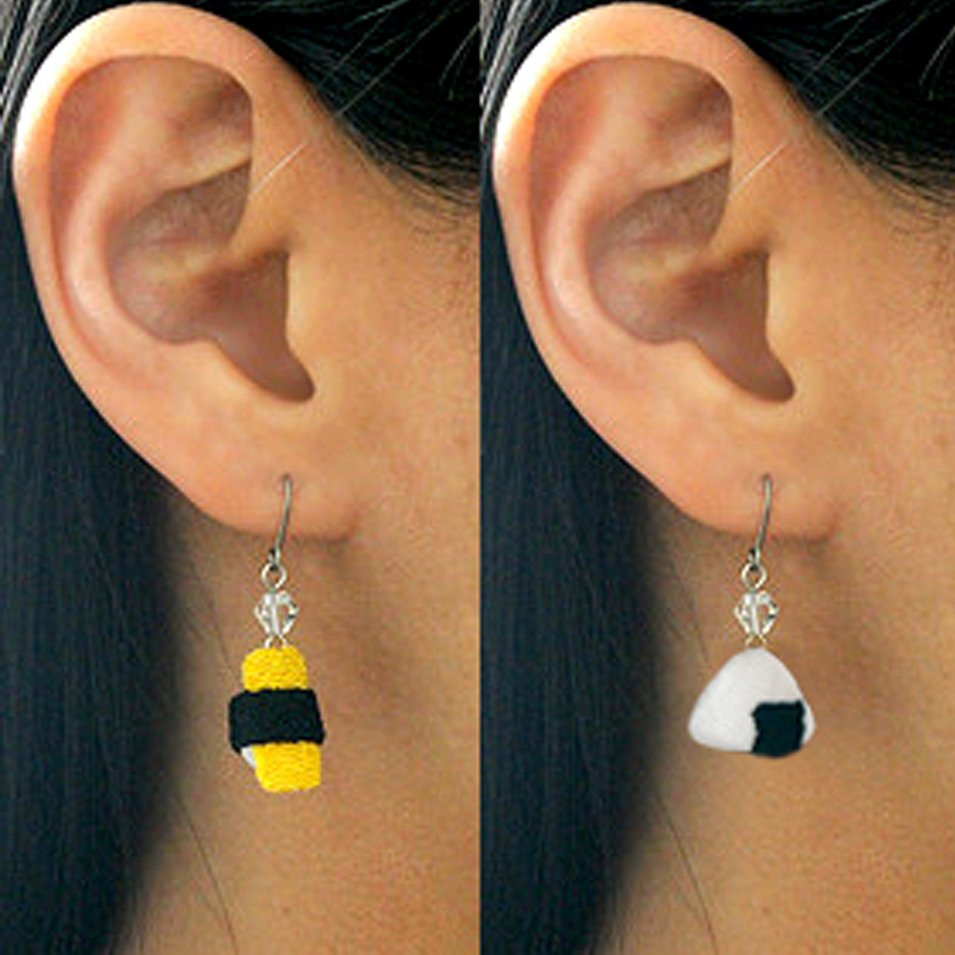Japanese Sushi Earrings Shut Up And Take My Yen : Anime & Gaming Merchandise