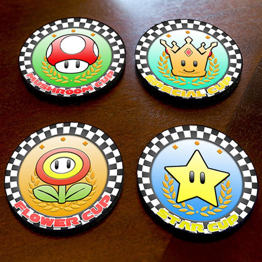 Mario Kart Cup Drink Coasters Shut Up And Take My Yen : Anime & Gaming Merchandise