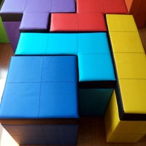 Tetris Shaped Storage Benches Shut Up And Take My Yen : Anime & Gaming Merchandise