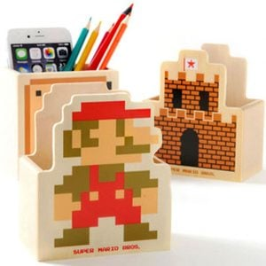 Super Mario Pencil Holder Shut Up And Take My Yen : Anime & Gaming Merchandise