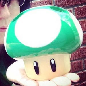 Super Mario 1-Up Mushroom Toothbrush Holder