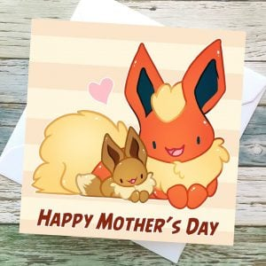 Pokemon Mothers Day Cards