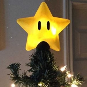 Super Mario Star Christmas Tree Topper