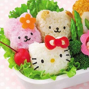Hello Kitty Rice Ball Mold