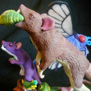 Realistic Pokemon Family Sculptures