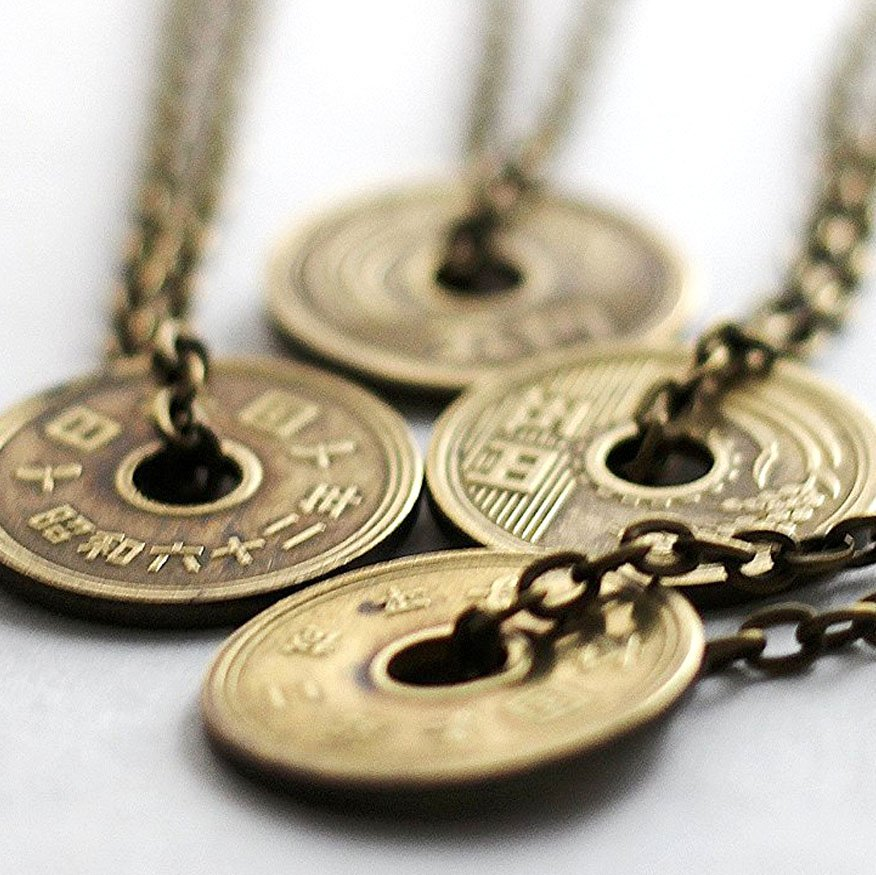 Authentic Japanese Coin Necklaces