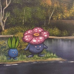 Pokemon Landscape Oil Paintings
