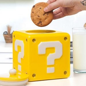 Super Mario Question Block Cookie Jar