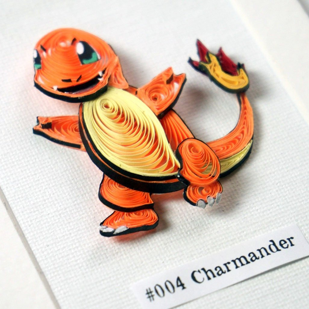 Pokemon Paper Quilling Art