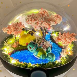Light Up Pokeball Terrariums