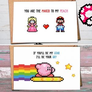 Nintendo Valentine Day Cards