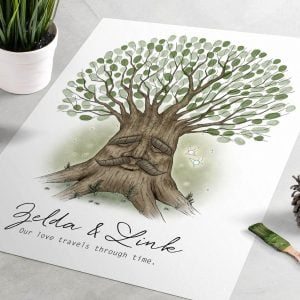 Zelda Great Deku Tree Fingerprint Wedding Guest Book