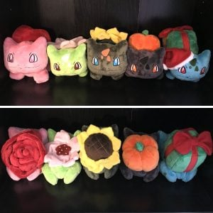 Pokemon Seasonal Bulbasaur Plushies
