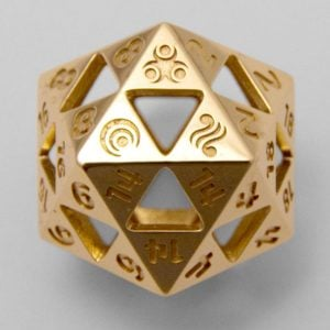 Legend Of Zelda Triforce D20 Dice