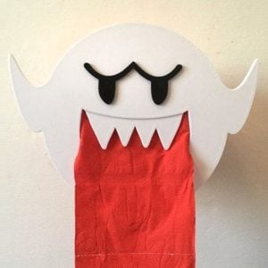 Super Mario Boo Toilet Roll Holder