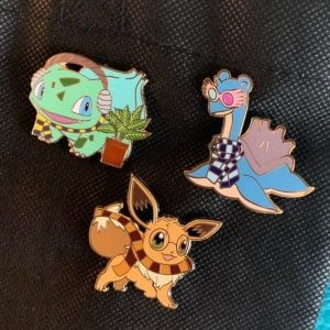 Pokemon X Harry Potter Pins