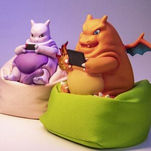Lazy Pokemon Bean Bag Figures