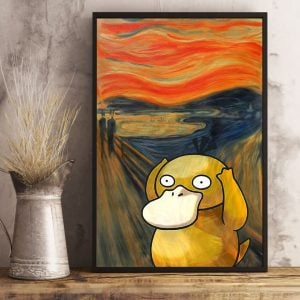 Psyduck The Scream Art Print