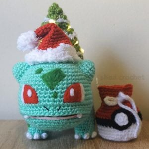 Crochet Christmas Bulbasaur